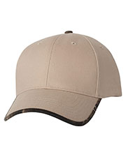 Kati Lc26  Solid Cap With Camouflage Bill at GotApparel