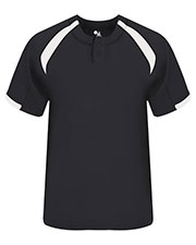 Badger 2932 Boys Youth Competitor Henley Tee at GotApparel