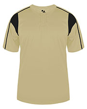 Badger Sportswear 2937 Youth Short-Sleeve 2-Button T-Shirt at GotApparel