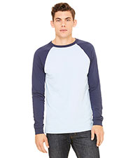Bella + Canvas 3000C Men Jersey Long-Sleeve Baseball T-Shirt at GotApparel