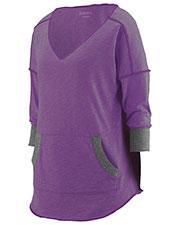 Augusta 3005 Women Long Sleeve Marvel V-Neck TShirt at GotApparel