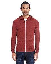 Unisex Triblend Full-Zip Light Hoodie at GotApparel