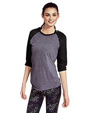 Soffe 3050V  Jrs Heathered Baseball Tee at GotApparel