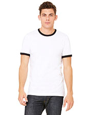 Bella + Canvas 3055C Men Jersey Short-Sleeve Ringer T-Shirt at GotApparel