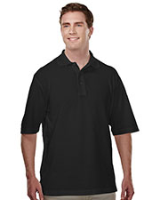 Tri-Mountain 305 Men's Assembly Easy Care Short-Sleeve Knit Shirt With Snap Closure at GotApparel