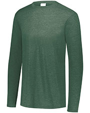 Augusta 3076 Boys Tri-Blend Long Sleeve Crew at GotApparel