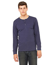 Bella + Canvas 3150 Men Jersey Long-Sleeve Henley at GotApparel