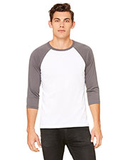 Bella + Canvas 3200 Unisex 3/4-Sleeve Baseball Tee at GotApparel
