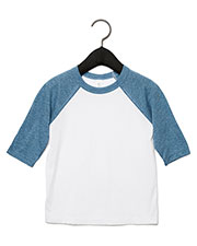 Bella + Canvas 3200T Infants & Toddlers 3/4-Sleeve Baseball T-Shirt at GotApparel