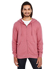 Unisex Triblend French Terry Full-Zip at GotApparel