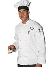 Edwards 3301 Unisex 10 Button Long-Sleeve Chef Coat at GotApparel