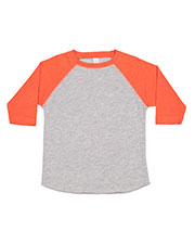 Rabbit Skins 3330 Toddlers Vintage Fine Jersey 3/4-Sleeve Baseball T-Shirt at GotApparel