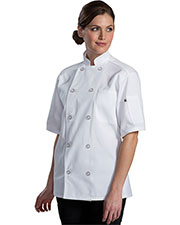 Edwards 3333 Unisex Ten Button Short-Sleeve Back Mesh Chef Coat at GotApparel