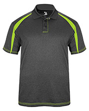 Badger 3347  Fusion Three Button Polyester Polo Shirt at GotApparel
