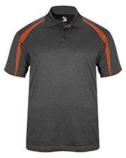 Badger 3347 Men Fusion Three Button Polyester Polo Shirt at GotApparel