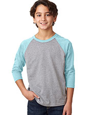 Next Level 3352 Boys CVC 3/4-Sleeve Raglan at GotApparel