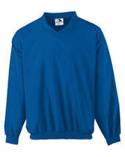 Augusta 3415 Men Micro Poly wind shirt/Lined Long Sleeve V-Neck Jersey at GotApparel