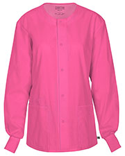 Cherokee Workwear 34350A Women Snap Front Warm-Up Jacket at GotApparel
