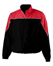 Augusta 3491  Youth Micro Poly Color Block Jacket at GotApparel