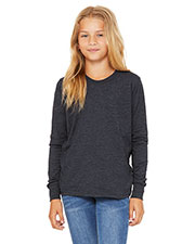 Bella + Canvas 3501Y Boys Jersey Long-Sleeve T-Shirt at GotApparel