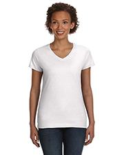LAT 3507 Ladies 4.5 oz V-Neck Fine Jersey T-Shirt at GotApparel