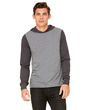 Bella + Canvas 3512 Unisex Jersey Long-Sleeve Hoodie at GotApparel