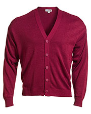Edwards 351 Unisex V-Neck Jersey Stitch Long-Sleeve Cardigan at GotApparel