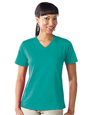 LAT 3587 Women CRS Jersey V-Neck Short Sleeve Tee at GotApparel