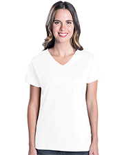 LAT 3587  Ladies' V-Neck T-Shirt at GotApparel