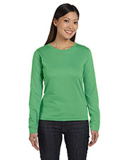 LAT 3588 Women Ringspun Long-Sleeve T-Shirt at GotApparel
