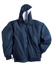 Tri-Mountain 3600 Men Bay Watch Nylon Hooded Jacket With Jersey Lining at GotApparel