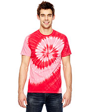 Dyenomite 365SL Adult for Team 365 Team Tonal Spiral Tie-Dyed T-Shirt at GotApparel