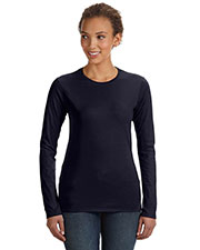 Anvil 374L Women Lightweight Fitted Long-Sleeve T-Shirt at GotApparel