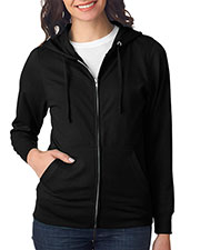 LAT 3763 Women Full-Zip Hoodie at GotApparel