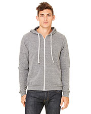 Bella + Canvas 3909 Unisex Tri-Blend Sponge Fleece Full-Zip Hoodie at GotApparel