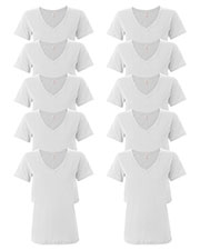 Anvil 392A Women Ringspun Featherweight V-Neck T-Shirt 10-Pack at GotApparel