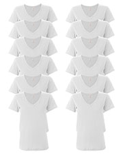 Anvil 392A Women Ringspun Featherweight V-Neck T-Shirt 12-Pack at GotApparel