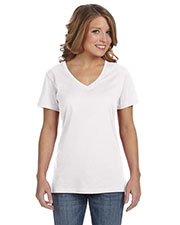 Anvil 392A Women Ringspun Feather weight V-Neck T-Shirt at GotApparel