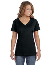 Anvil 392A Women Ringspun Featherweight V-Neck T-Shirt at GotApparel