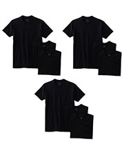 Fruit Of The Loom 3931P Men 5 Oz. 100% Heavy Cotton Hd Pocket T-Shirt 9-Pack at GotApparel
