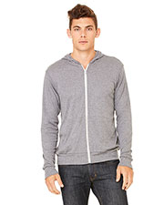 Bella + Canvas 3939 Unisex Tri blend Full-Zip Lightweight Hoodie at GotApparel