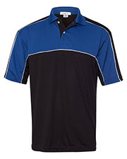FeatherLite 467 Men Colorblocked Moisture-Free Mesh Sport Shirt at GotApparel