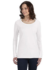 Anvil 399 Women Ringspun Sheer LongSleeve Featherweight T-Shirt at GotApparel