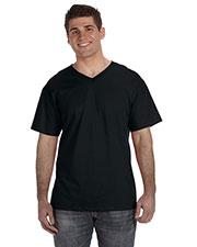Fruit Of The Loom 39VR Men 5 Oz. 100% Heavy Cotton Hd V-Neck T-Shirt at GotApparel