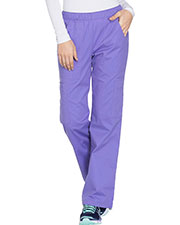 Cherokee Workwear 4005 Women Stretch Mid Rise Pull-On Pant Cargo  at GotApparel