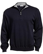 Edwards 4012 Men Quarter-Zip Acrylic Sweater at GotApparel
