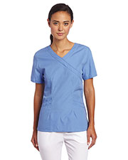 Landau 4033 Women Banded Crossover Tunic at GotApparel