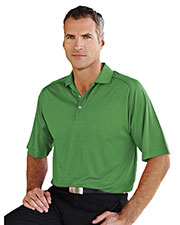 Tri-Mountain Gold 404 Men Woodside Grid Pattern Knit Polo Shirt at GotApparel