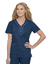 Landau 4053 Women Kellie Twill Kurta Tunic at GotApparel