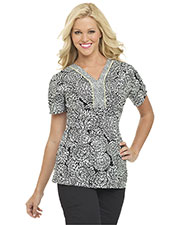 Landau 4058 Women Y-Placket Top at GotApparel